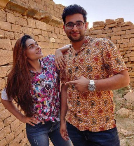 Mukti Gautam with her brother