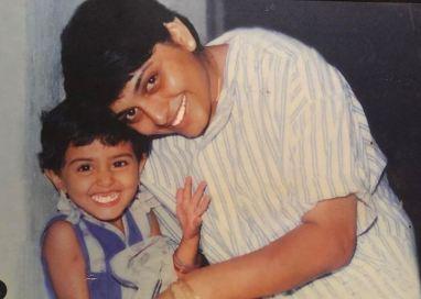 Nidhi Subbaiah's childhood picture
