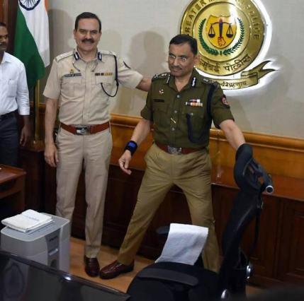 Param Bir Singh at Mumbai Police headquater