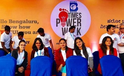 Vaishnavi Gowda in a promotional event of Times Power Week