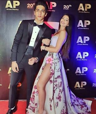 Ahaan Panday with his sister