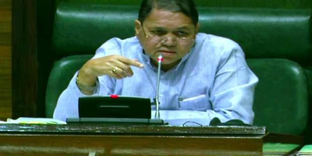 Dilip Walse Patil administering a session of the Maharashtra Legislative Assembly as its speaker