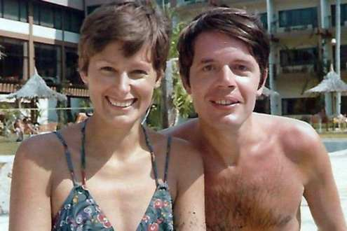 Herman Knippenberg and Angela Kane in 1975