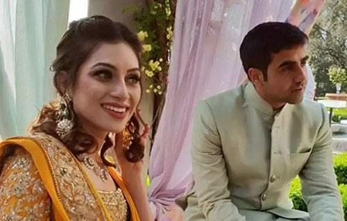 Nikhil Kamath with his wife