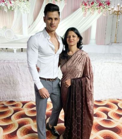 Jay Dudhane with his mother
