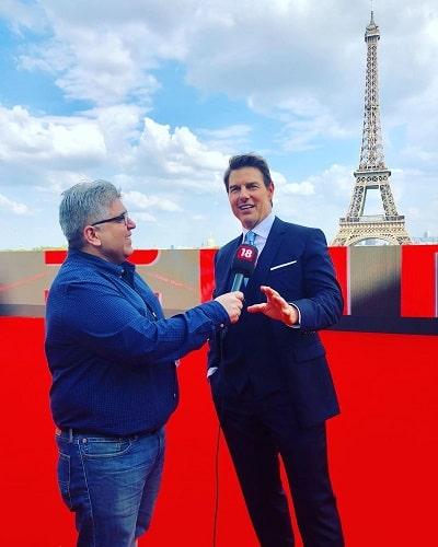 Rajeev Masand interviewing Tom Cruise