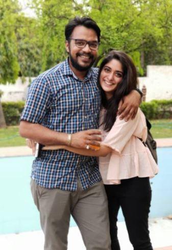 Apoorv Singh Karki and his wife