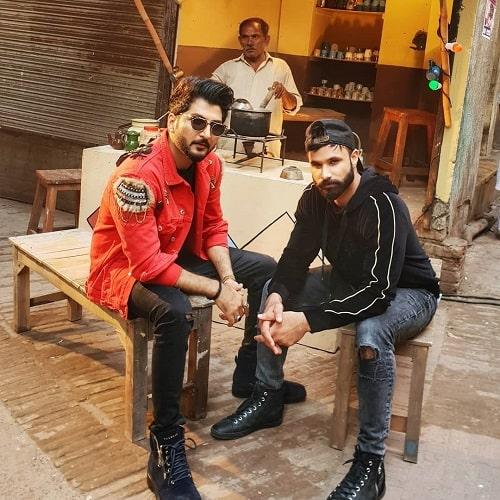 Rahim Pardesi with Falak Shabir