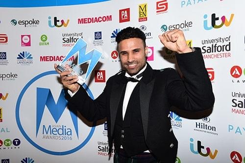 Rahim Pardesi with his AMA award