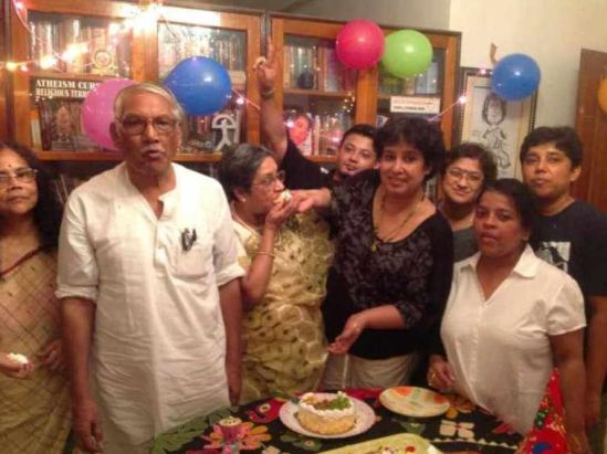 Talisma Nasrin with her family