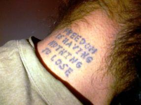Humble the Poet's neck tattoo