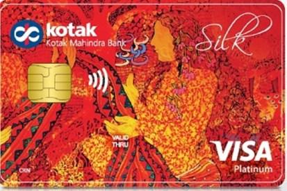 Special edition Kotak Mahindra debit card, featuring Seema Kohli's artwork