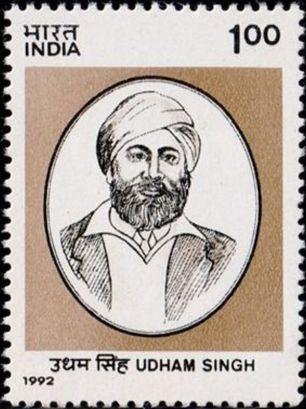Stamp in the memory of Udham Singh