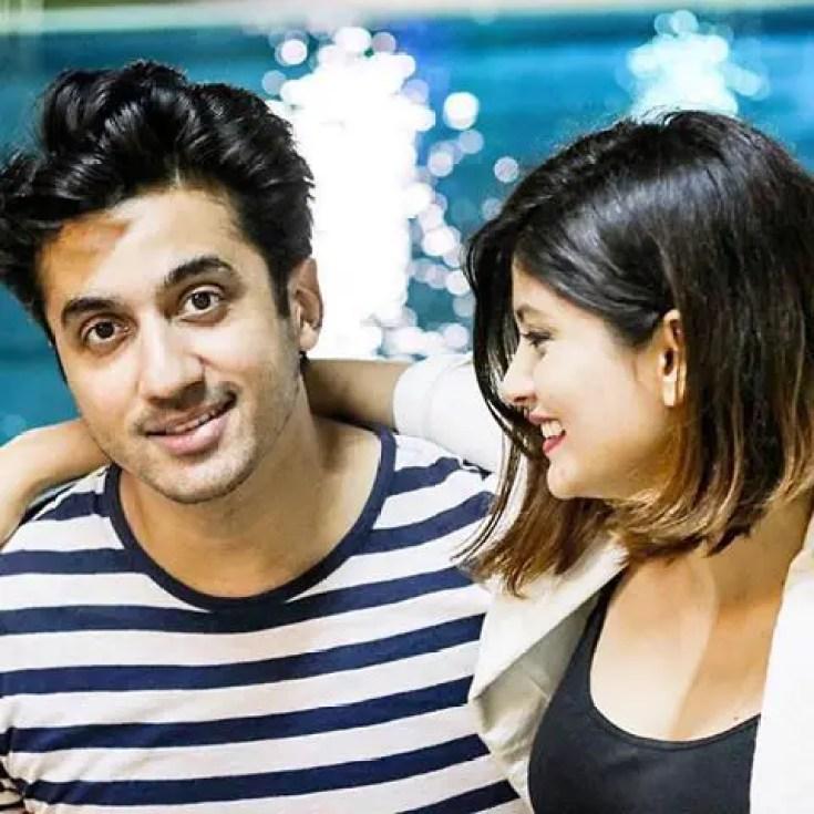 Mumbiker Nikhil with girlfriend Shanice