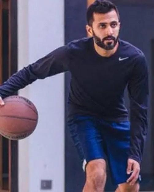 Anand Ahuja Playing basketball