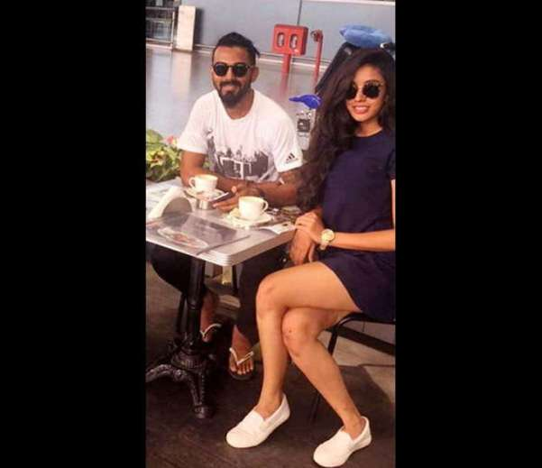 KL Rahul with girlfriend Elixir Nahar
