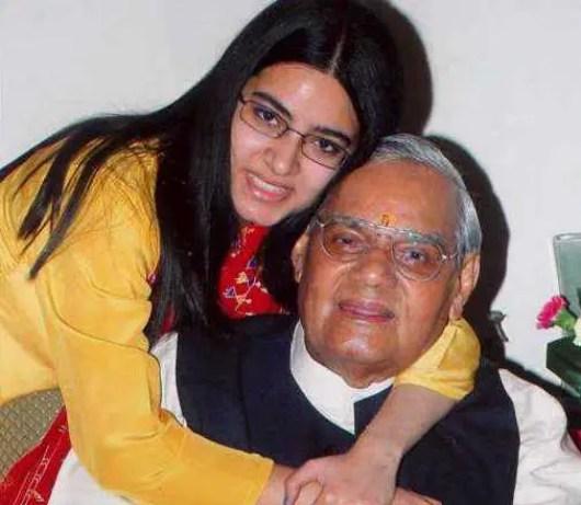 Niharika Bhattacharya, Atal Bihari Vajpayee Granddaughter