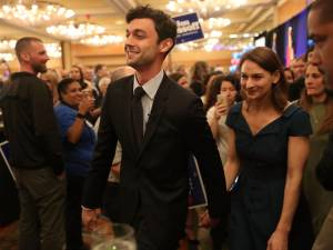 JON OSSOFF AND WIFE