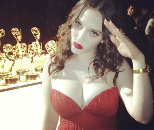 Kat Dennings Looking Hot Sexy Of Course Gorgeous In Red One Piece