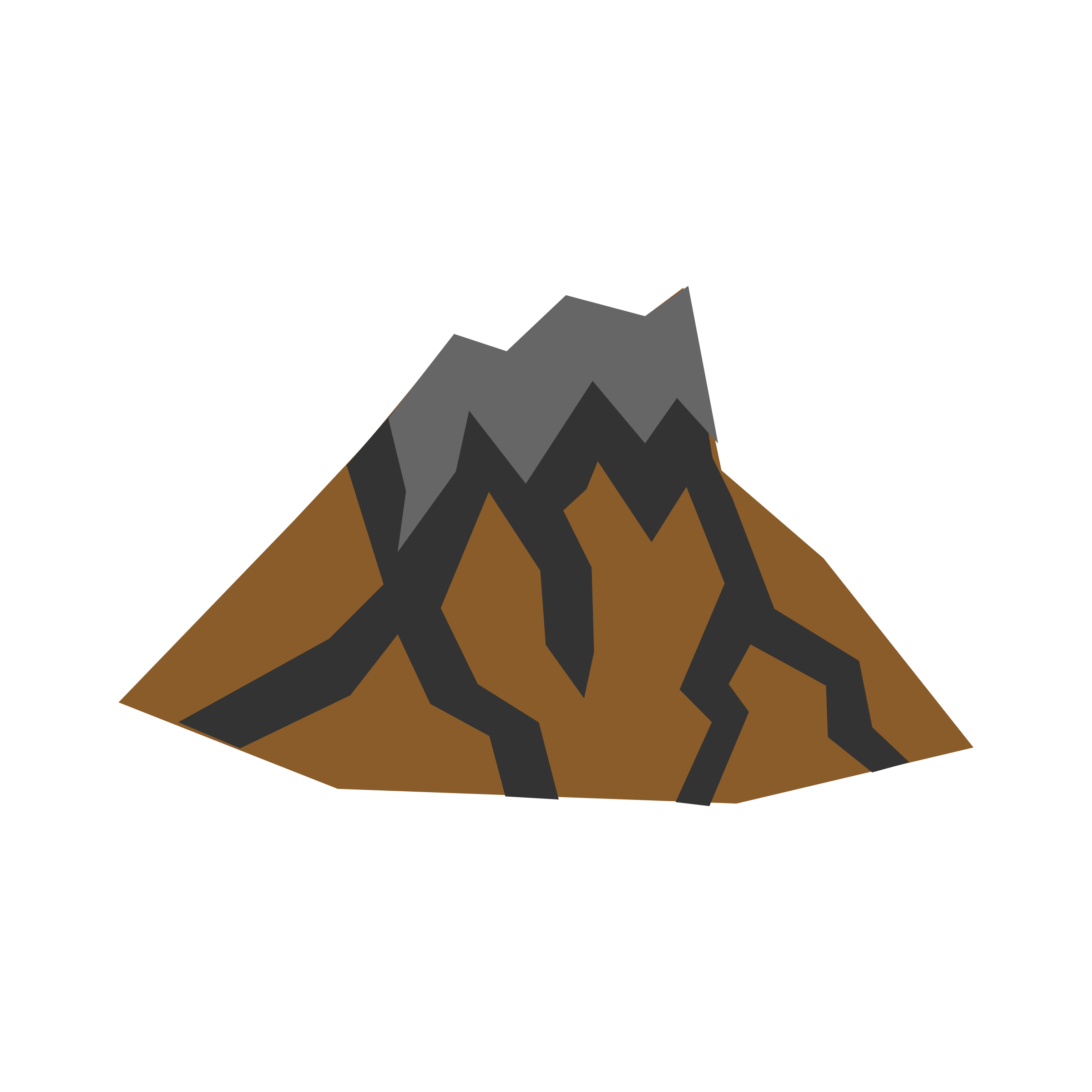 Volcano Clipart Coloring Pages