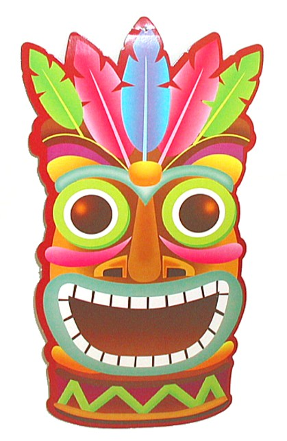 Black And Tiki Clip Art White