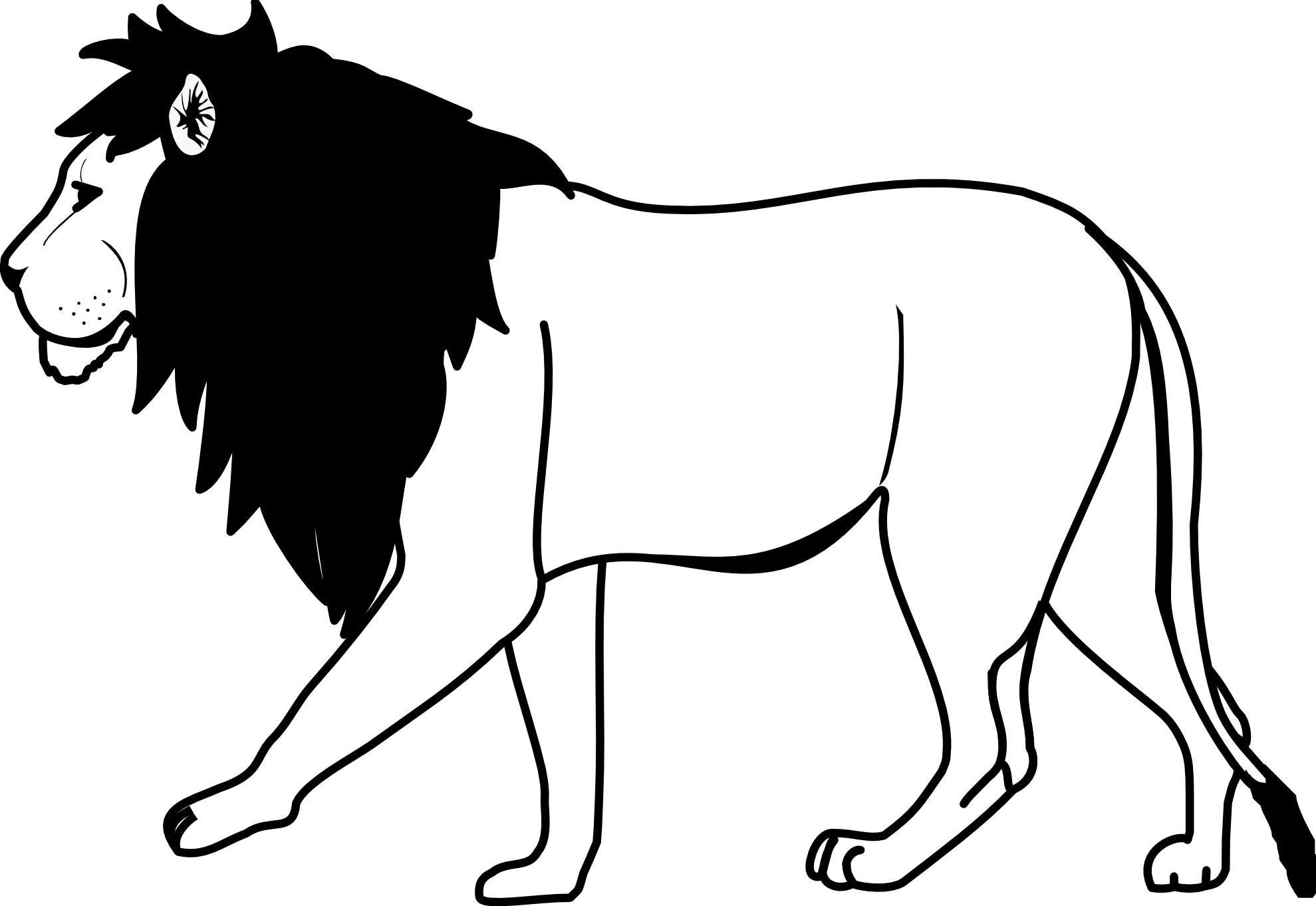 Lion Black And White Lion Clipart Black And White Wikiclipart