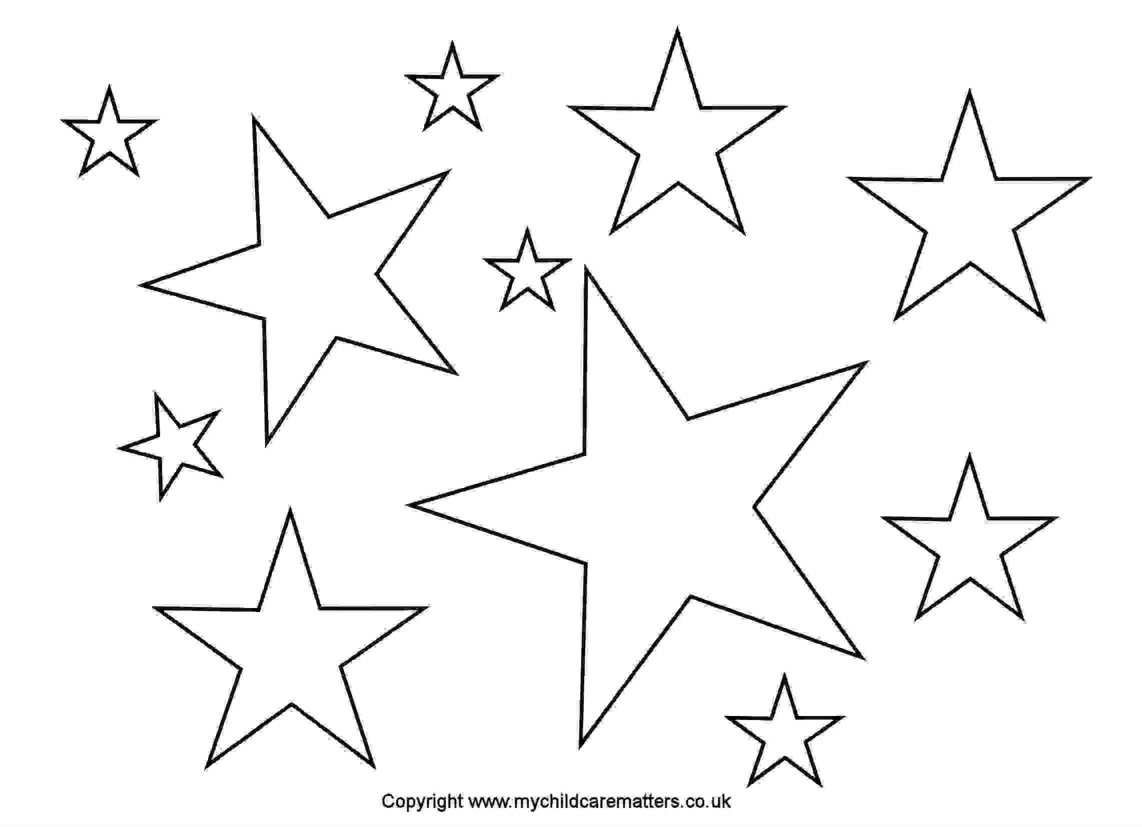 Star Outline Images 1 Inch Star Pattern Use The Printable