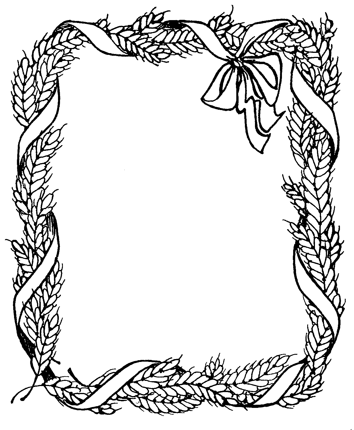 Thanksgiving Black And White Thanksgiving Border Clipart