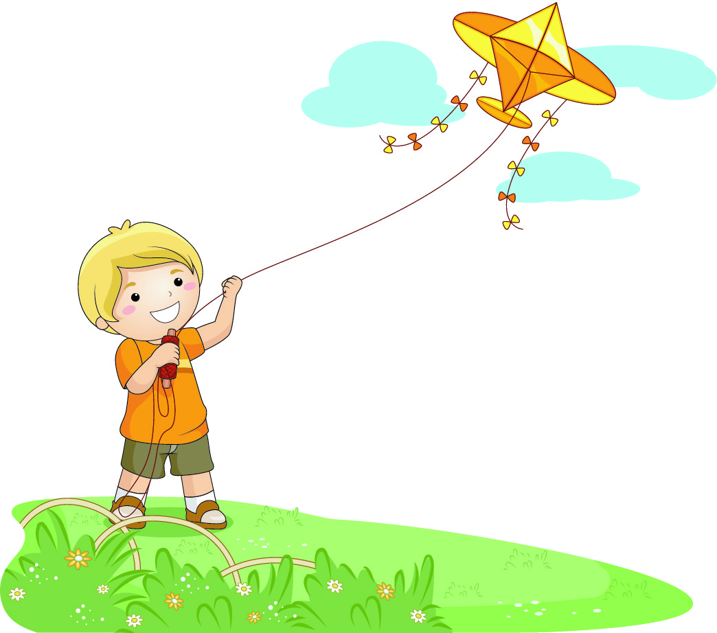 Windy Day Clipart 2