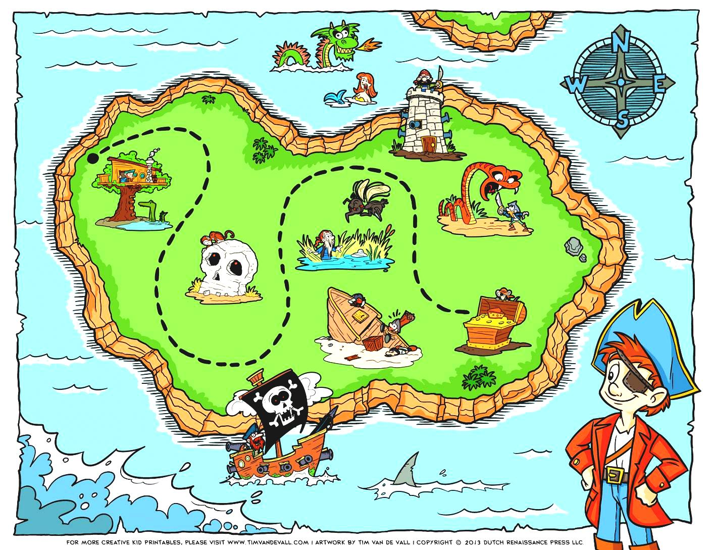 Treasure Map Clipart