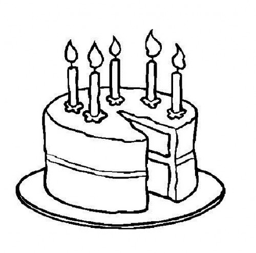 Cake Black And White Birthday Clipart Black And White Wikiclipart