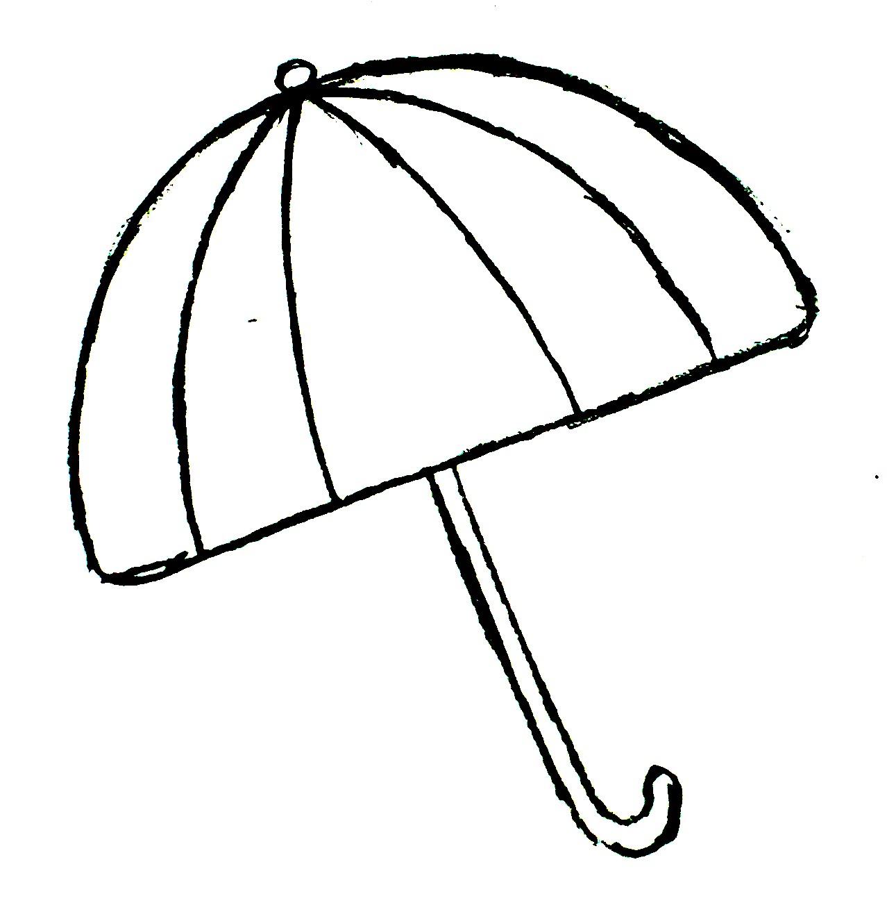Umbrella Black And White Beach Umbrella Clipart Black And