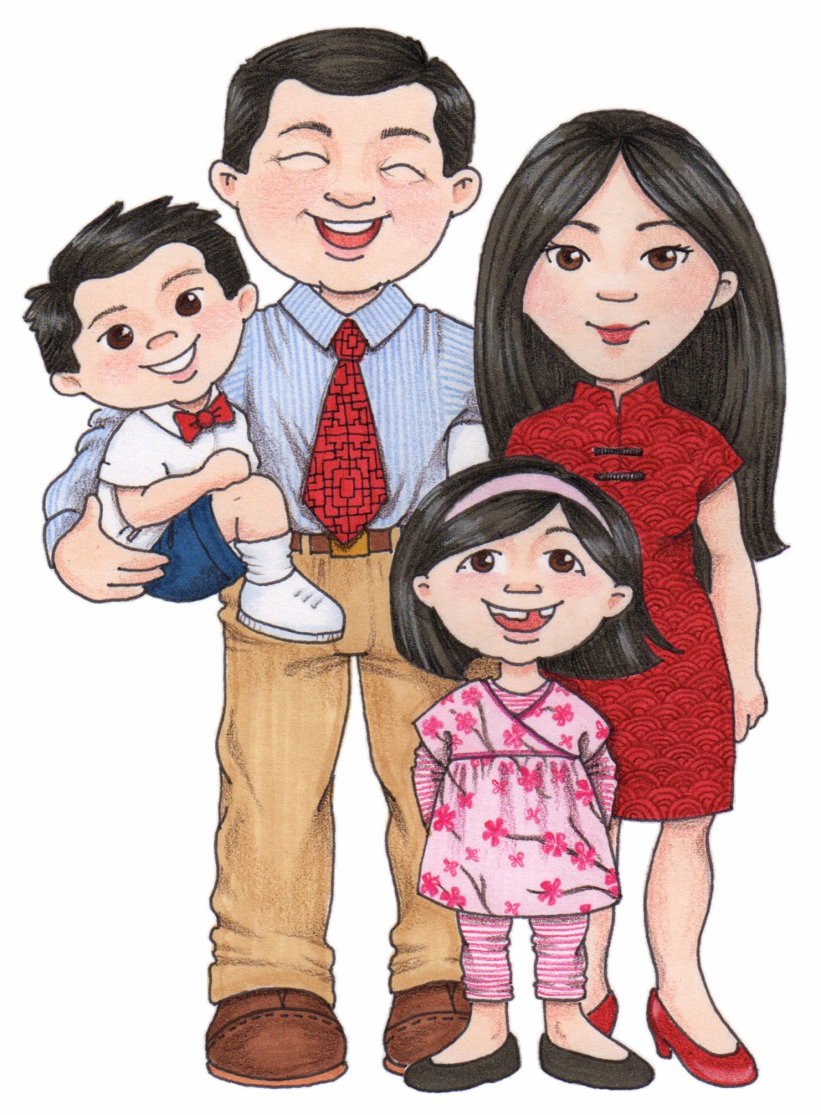A Big Family Clipart