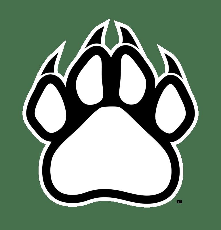 Bear paw clip art print paw outlinewildcat clipart ... (768 x 799 Pixel)