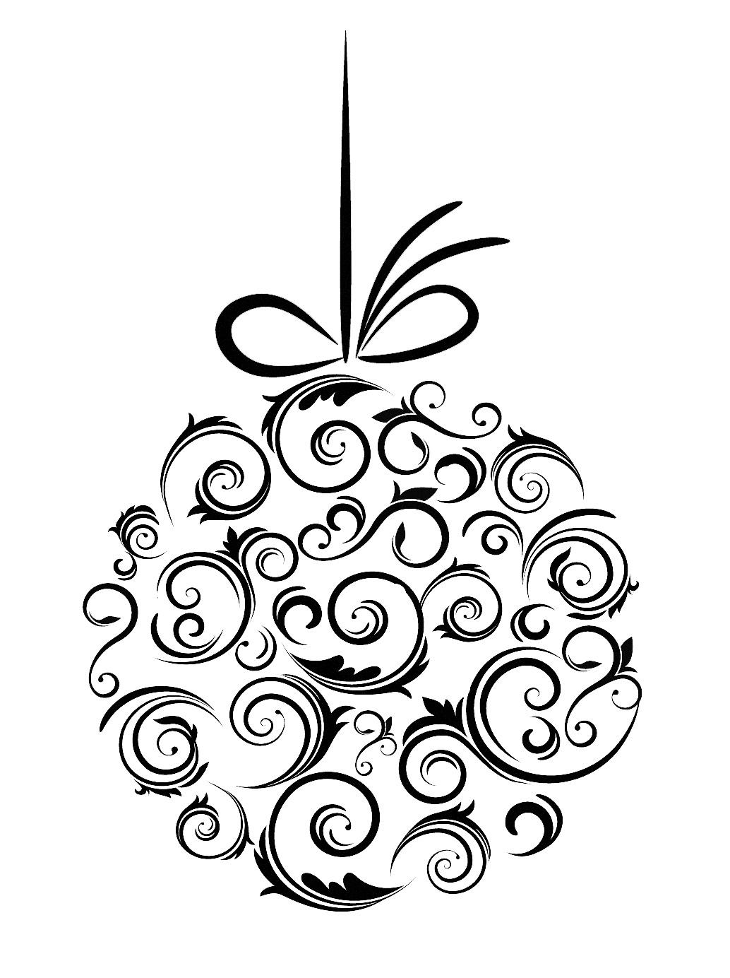 Christmas Ornament Black And White Xmas Tree Ornament