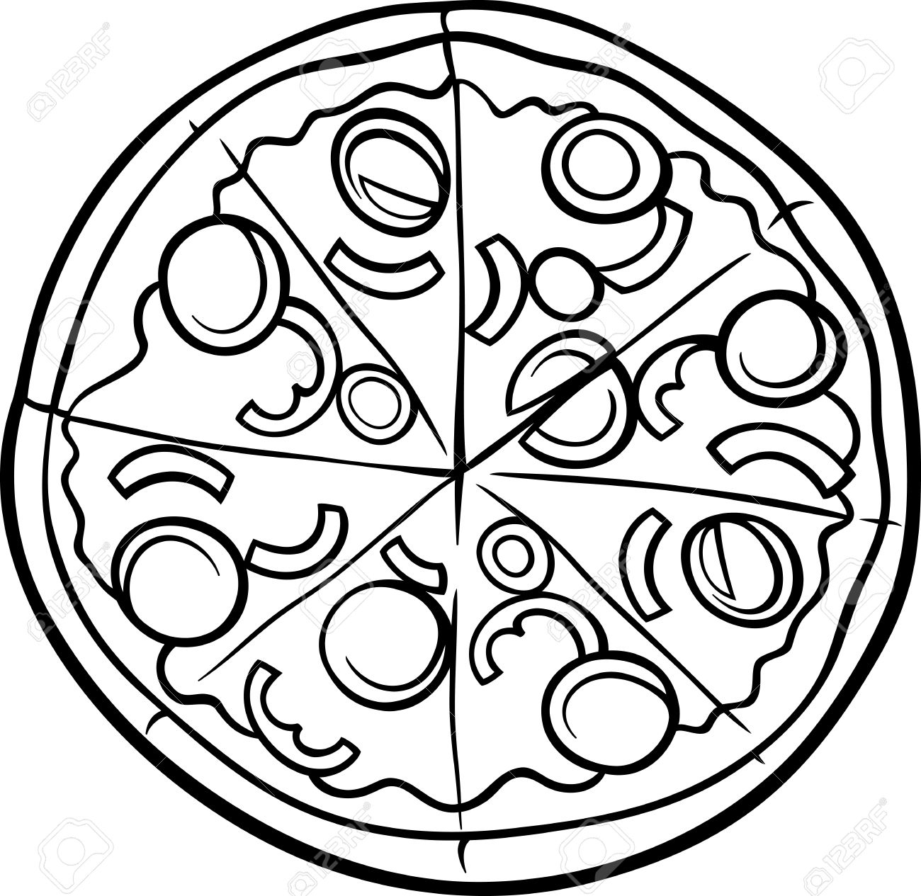 Pie Black And White Pizza Pie Clipart Black And White