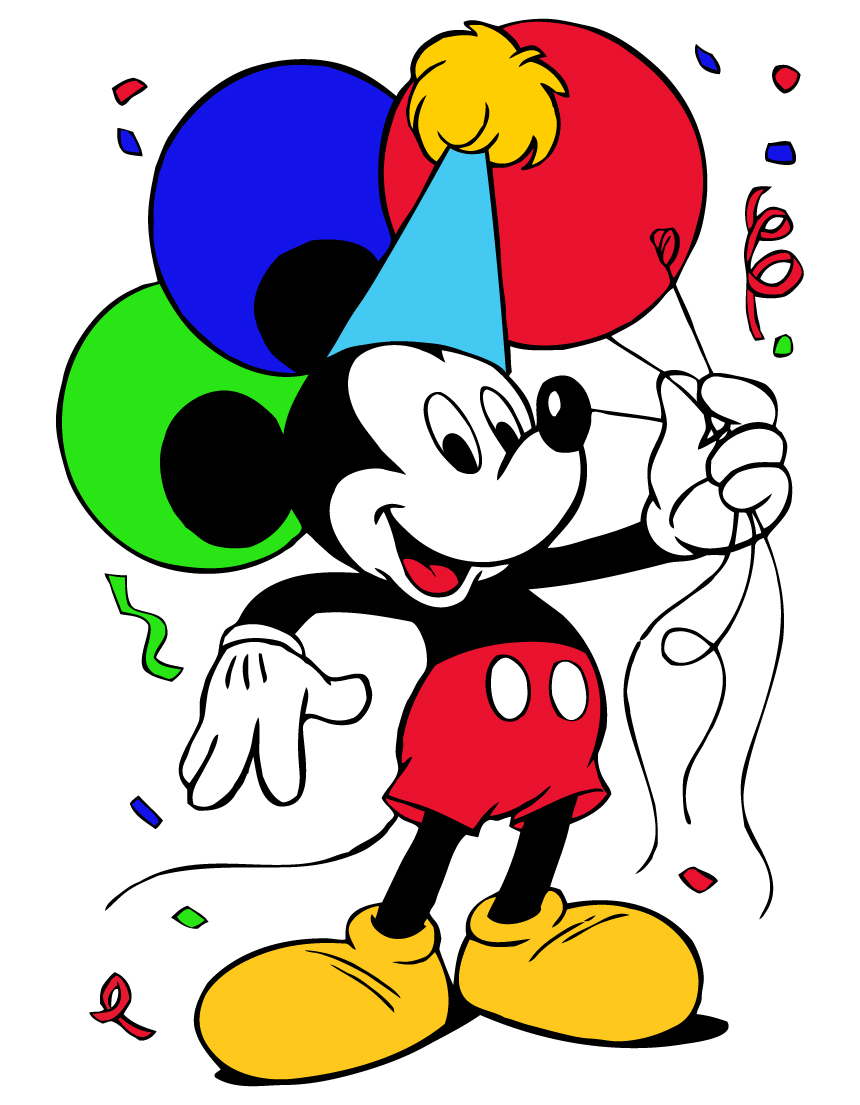 Mickey Mouse Birthday Clipart 66 Cliparts