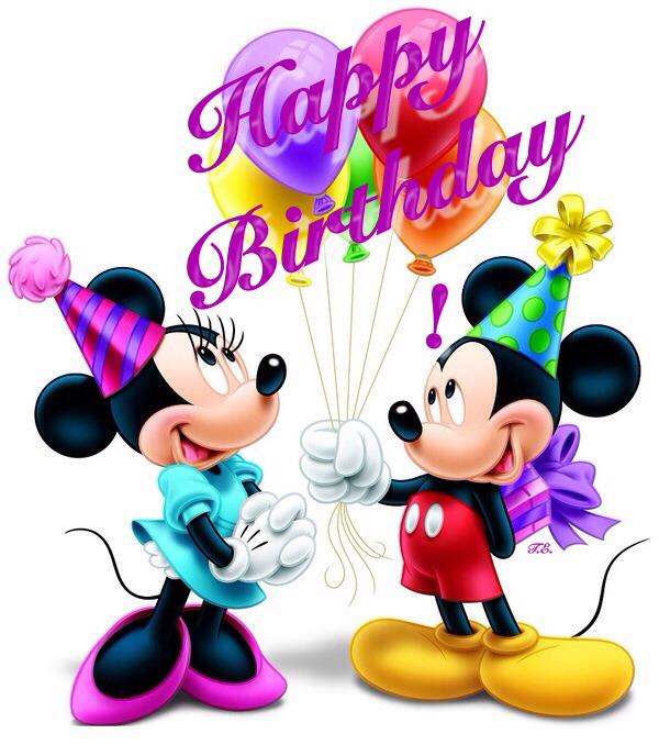 Mickey Mouse Birthday Happy Birthday Mickey And Minnie Clip Art Wikiclipart