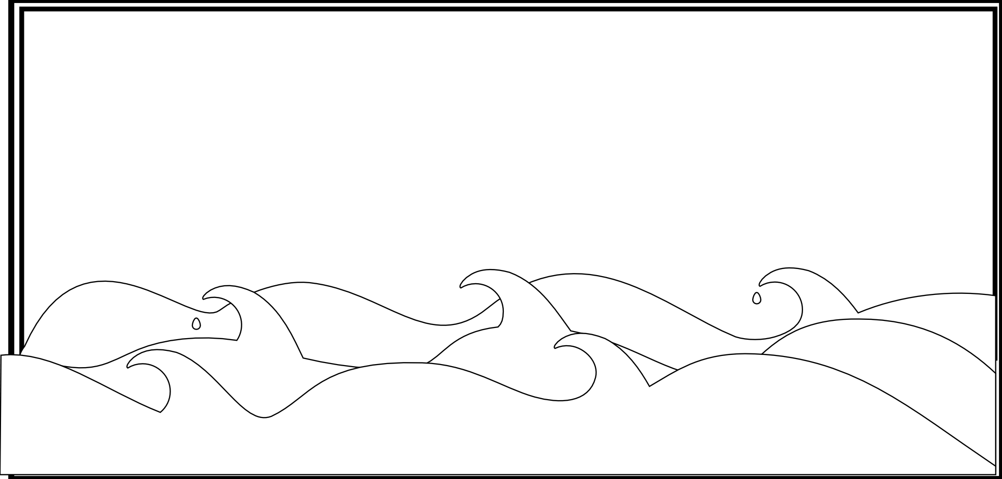 Water Black And White Waves Clipart Black And White