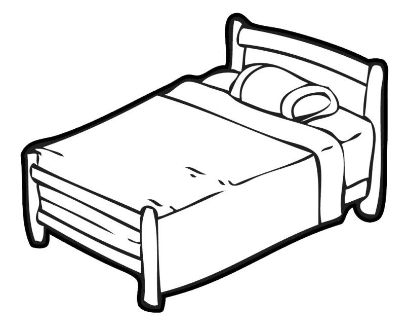 Bed Black And White Clip Art Free Clipart