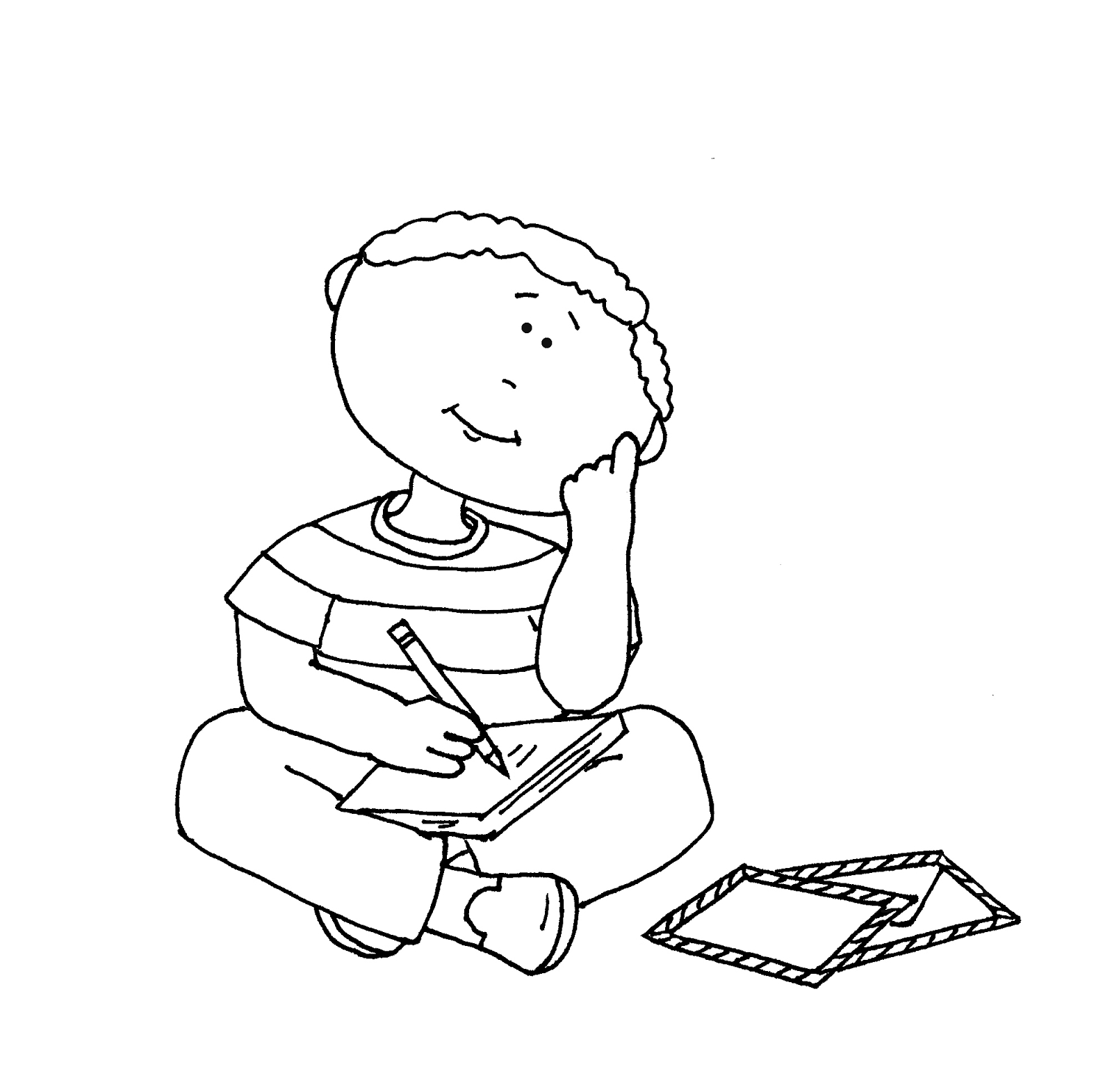 Child Thinking Clipart