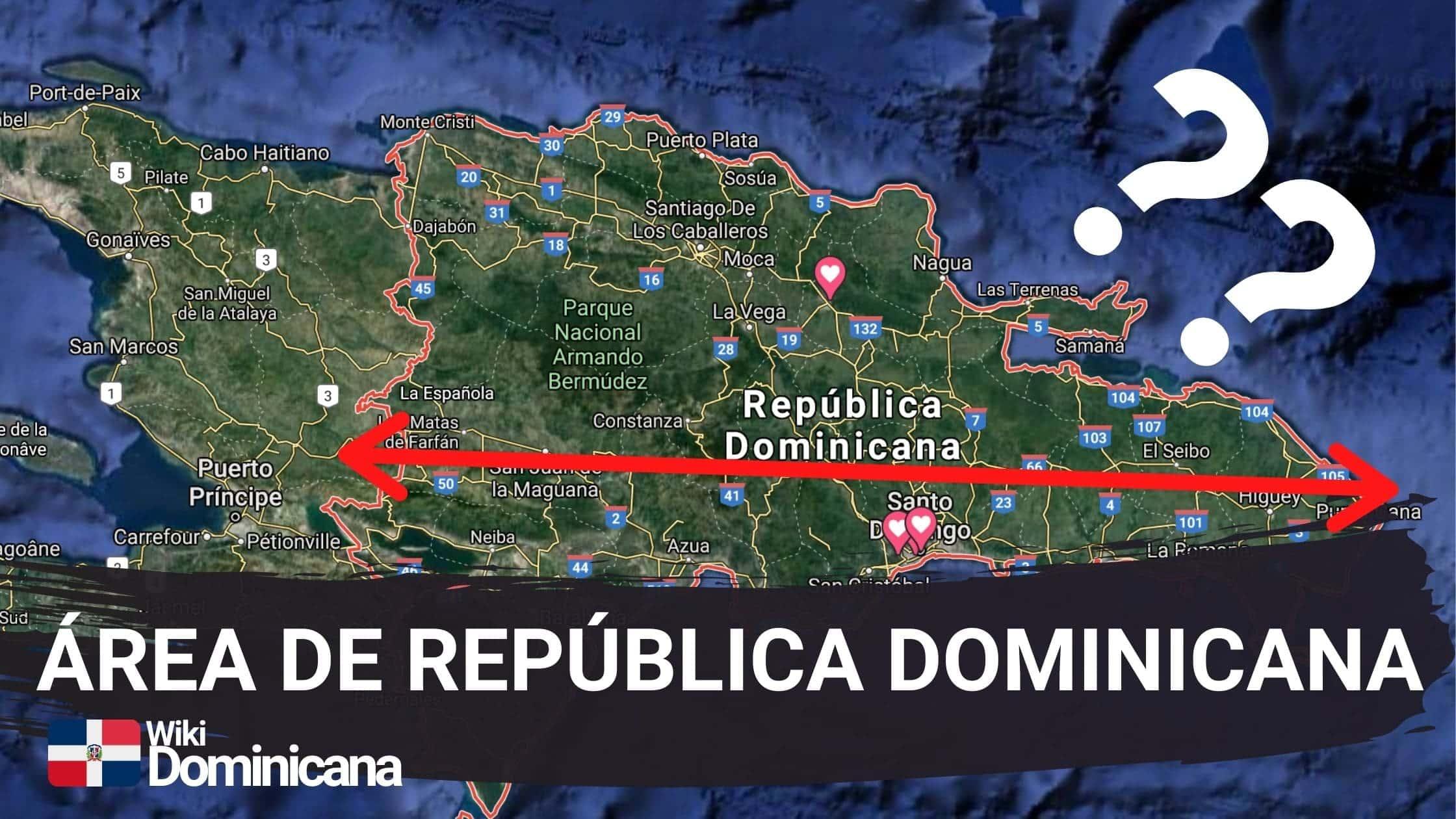 área de República Dominicana