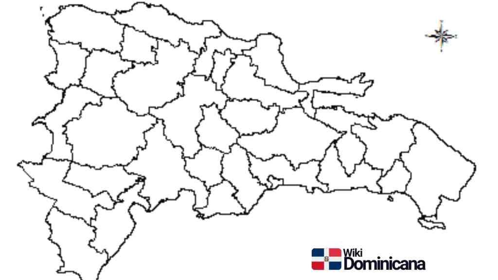Mapa de la República Dominicana para colorear