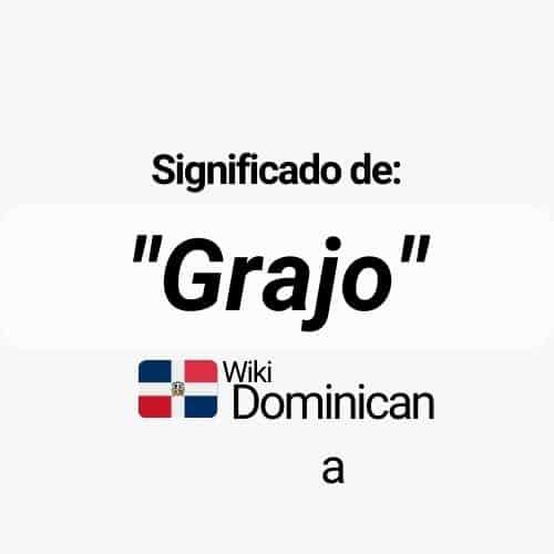 ¿Qué es grajo en República Dominicana?