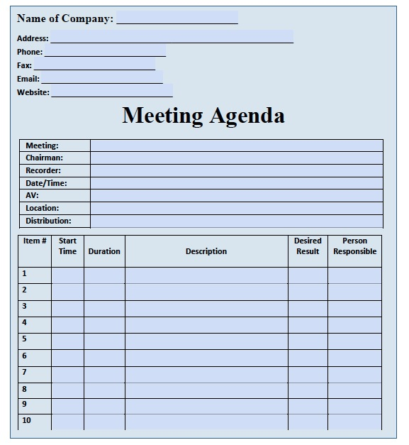 Ohs Meeting Agenda Template. safety committee meeting minutes template ...