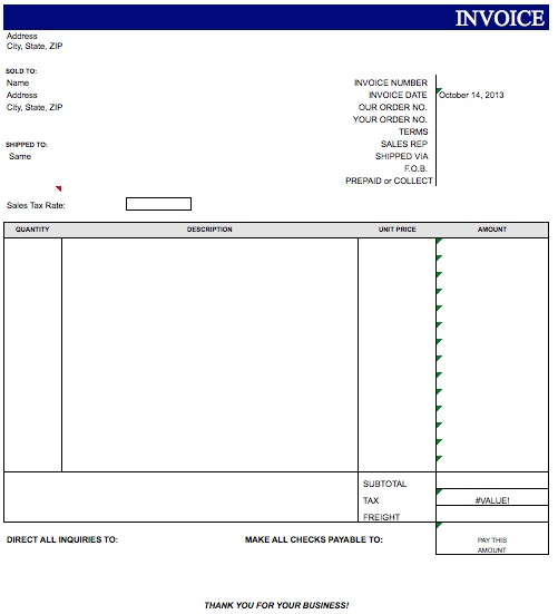 Blank Invoice Template For Microsoft Word residersinfo – Ms Word Invoice Template Free Download