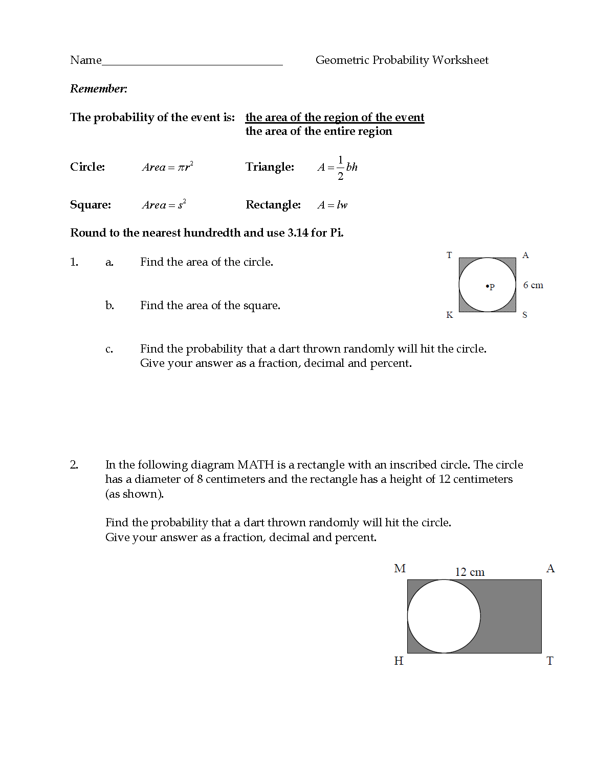 Download Probability Worksheets