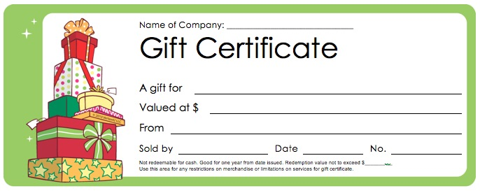 Christmas Gift Certificate Template gift template select a gift – Christmas Gift Card Template
