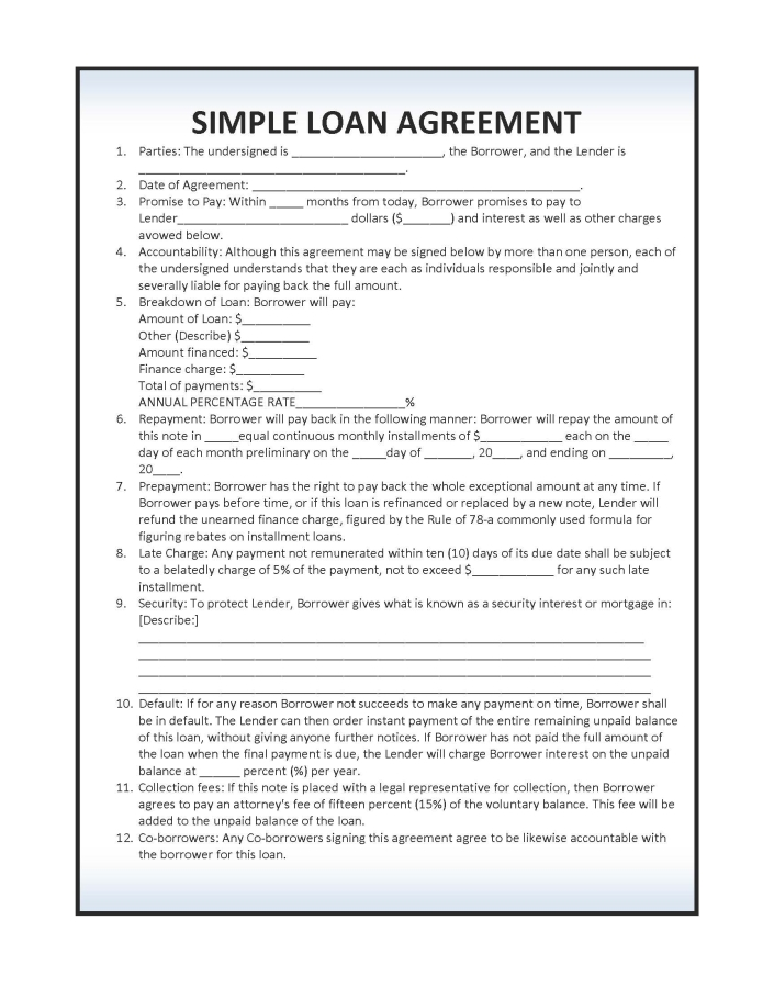 Simple Contract Templates websitein10 com amazing to download – Simple Contract Agreement Form
