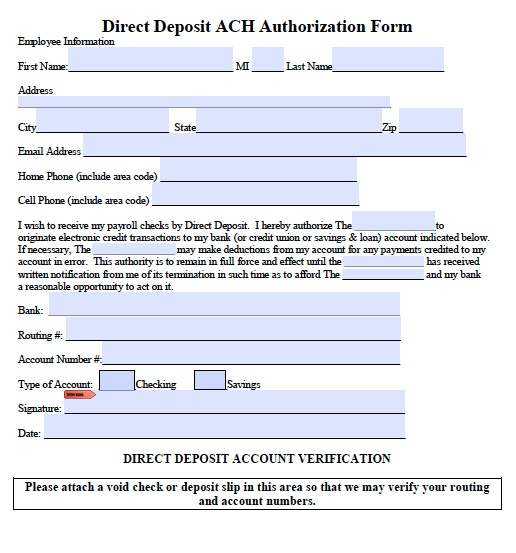 recurring credit card authorization form template. direct deposit ...